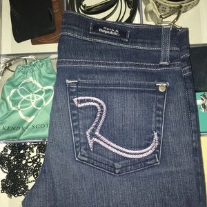 Rock & Republic Kasandra jeans Purple stitching 27